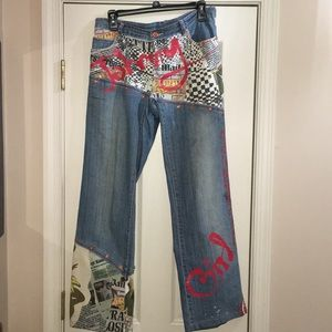 Denim - Johnny Girl hippie jeans - size M